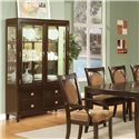Morris Home Furnishings Montblanc Curio Cabinet - Item Number: MB700CB+MB700CT