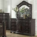 Morris Home Monte Carlo Dresser and Mirror Combo - Item Number: RE163SS-110+121