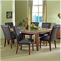 Vendor 3985 Montibello 7-Piece Dining Set - Item Number: 500T+6x500S-MN