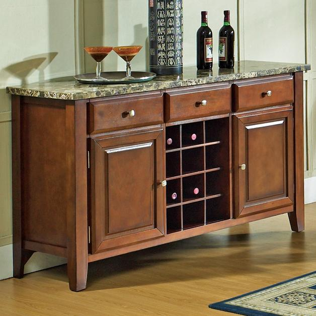 Steve Silver Montibello Dining Server with Wine Rack - Item Number: MN500SV