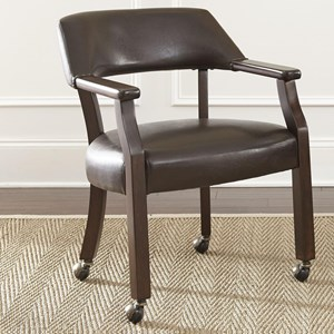 dining chair with casters. vendor 3985 morris arm chair dining with casters