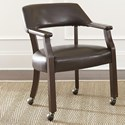 Steve Silver Morris Captain's Game Chair with Casters