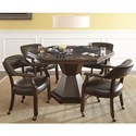 Steve Silver Morris Game Table/Dining Set - Item Number: MR250GB+T+4x250A