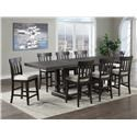 Steve Silver Napa 9-Piece Counter Height Dining Set - Item Number: 390450028
