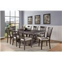Steve Silver Napa 9-Piece Table and Chair Set - Item Number: 393450021