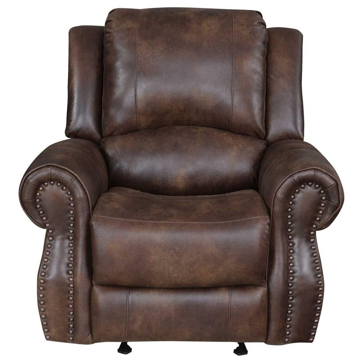 Steve Silver Navarro Na850c Faux Leather Manual Recliner Chair O Dunk O Bright Furniture Recliners