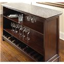Steve Silver Newbury Bar Unit with Stone Top