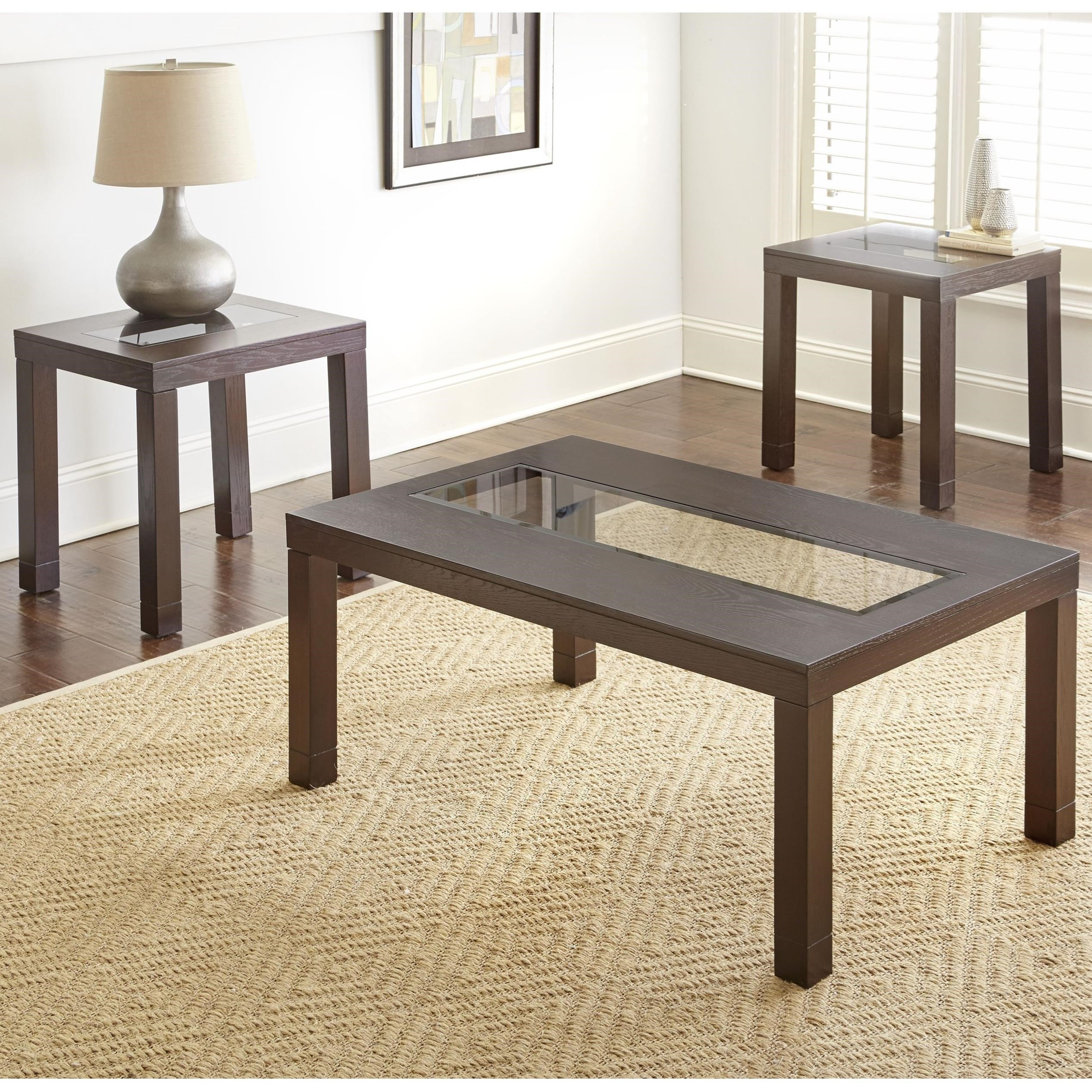 Steve silver normandy 3 piece living room table set van for 3 piece living room table sets