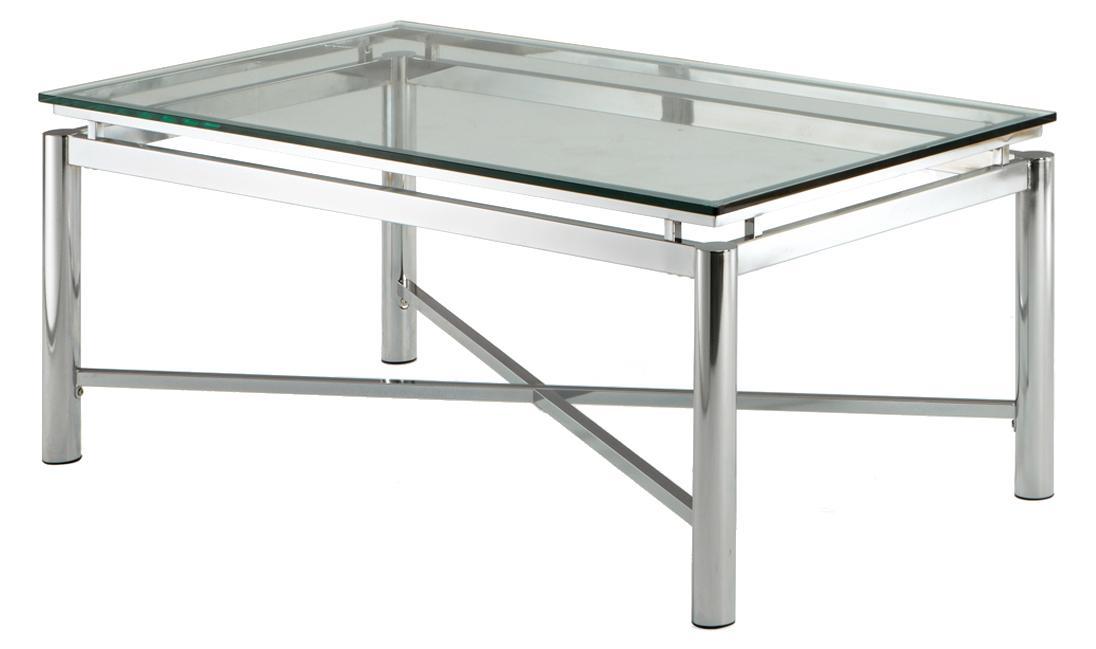 Steve Silver Nova Glass Top Cocktail Table - Item Number: NV100CB+NV100CT