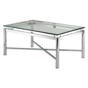 Steve Silver Nova Glass Top Cocktail Table