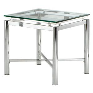 Steve Silver Nova Glass Top End Table