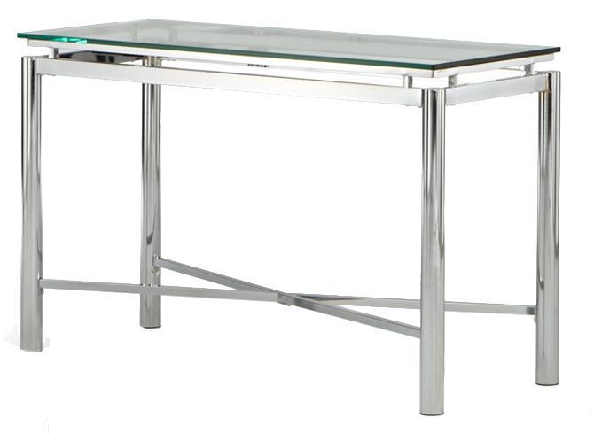 Steve Silver Nova Glass Top Sofa Table - Item Number: NV100SB+NV100ST