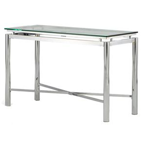 Morris Home Furnishings Nova Glass Top Sofa Table
