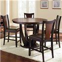 Steve Silver Oakton 5 Piece Counter Table Set - Item Number: OK4848PT+B+4x600CC