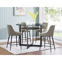 Steve Silver Olson SS 5 Piece Counter Dining Set - Item Number: OS480CB+GT+4xOS480CCK