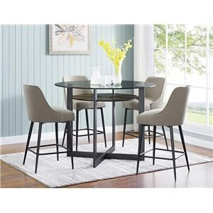 5 Piece Counter Height Dining Set Includes T