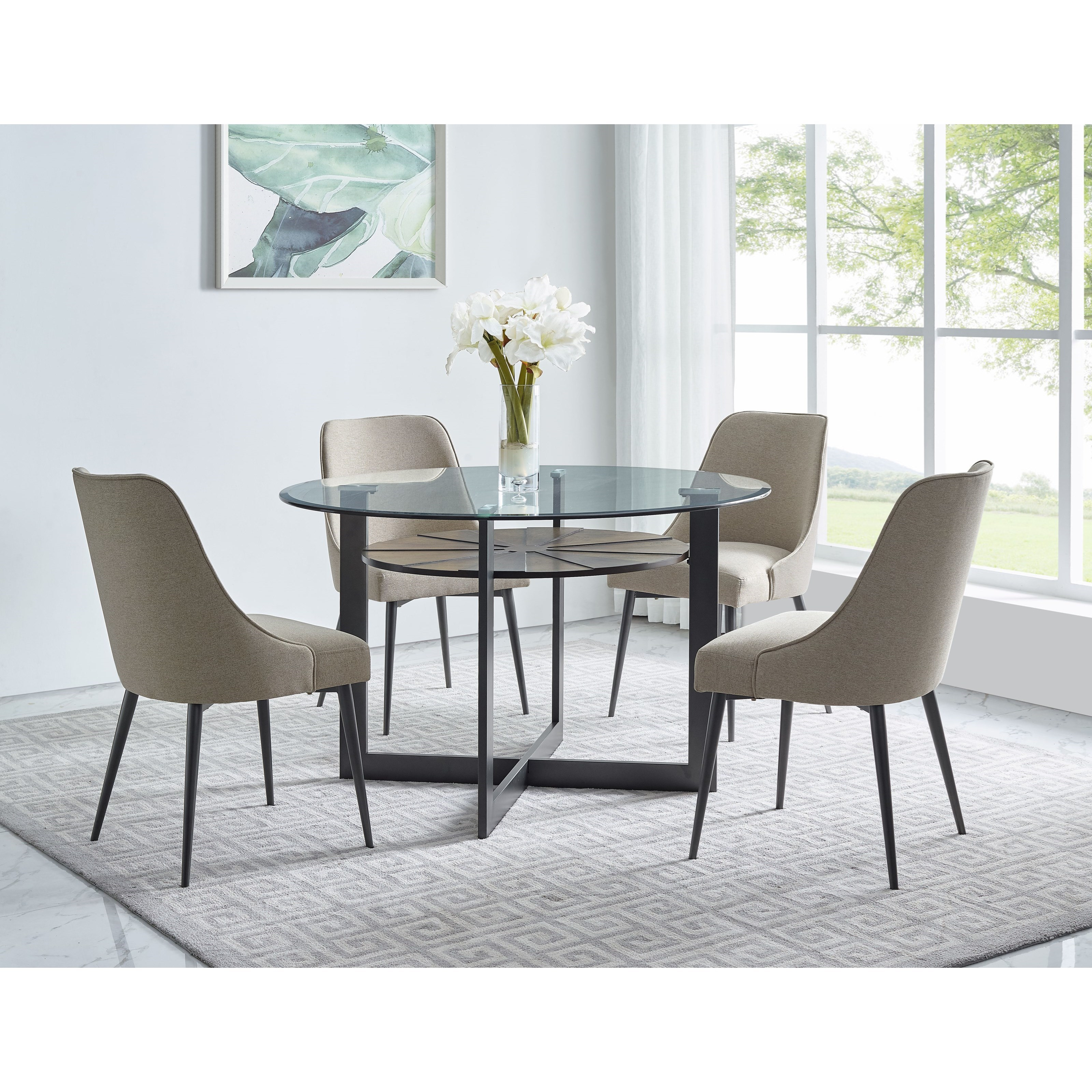 Steve Silver Olson Ss Contemporary 5 Piece Dining Set Wilcox Furniture Dining 5 Piece Sets