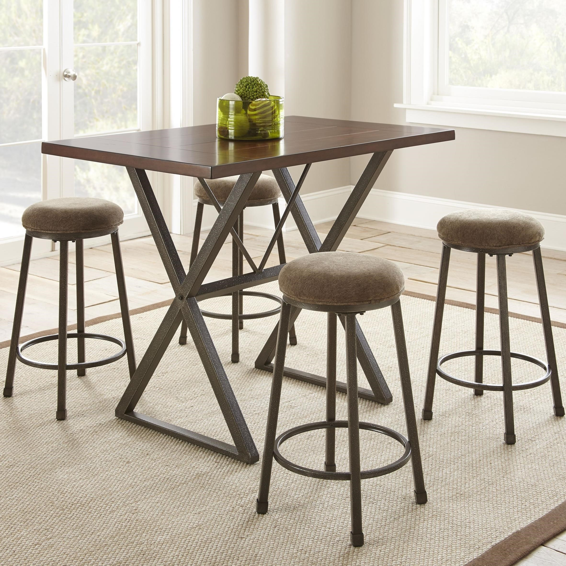 Prime Omaha 5 Piece Industrial Counter Height Dining Set