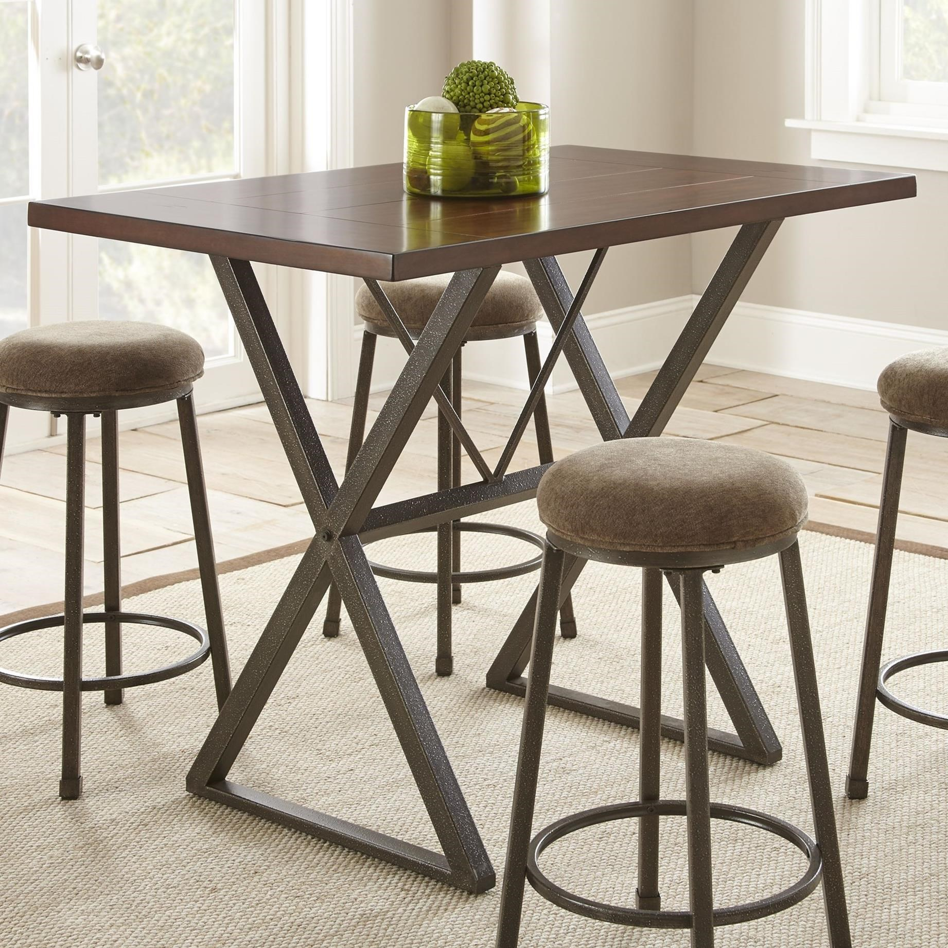 Ashley Furniture Omaha Ne: Steve Silver Omaha Industrial Counter Table With Metal