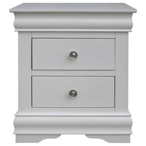 Vendor 3985 Orleans SS Two Drawer Nighstand