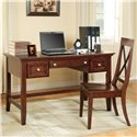 Steve Silver Oslo Transitional 2-Drawer Writing Desk with Keyboard Tray - Shown with Coordinating Desk Chair