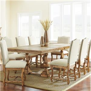 Morris Home Furnishings Plymouth 9 Piece Dining Set