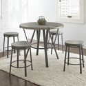 Steve Silver Portland 5 Piece Counter Height Dining Set - Item Number: OR420PT+4xCS