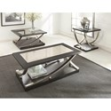 Steve Silver Ramsey Rectangle Cocktail Table with Hidden Caster and Antique Mirror Top