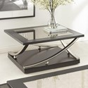 Steve Silver Ramsey Square Cocktail Table with Caster  - Item Number: RM360CAS