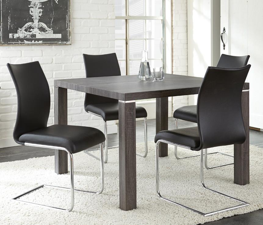 Steve Silver Randall 5 Piece Table With Charcoal Gray