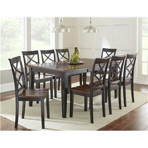 Vendor 3985 Rani  9 Piece Dining Set