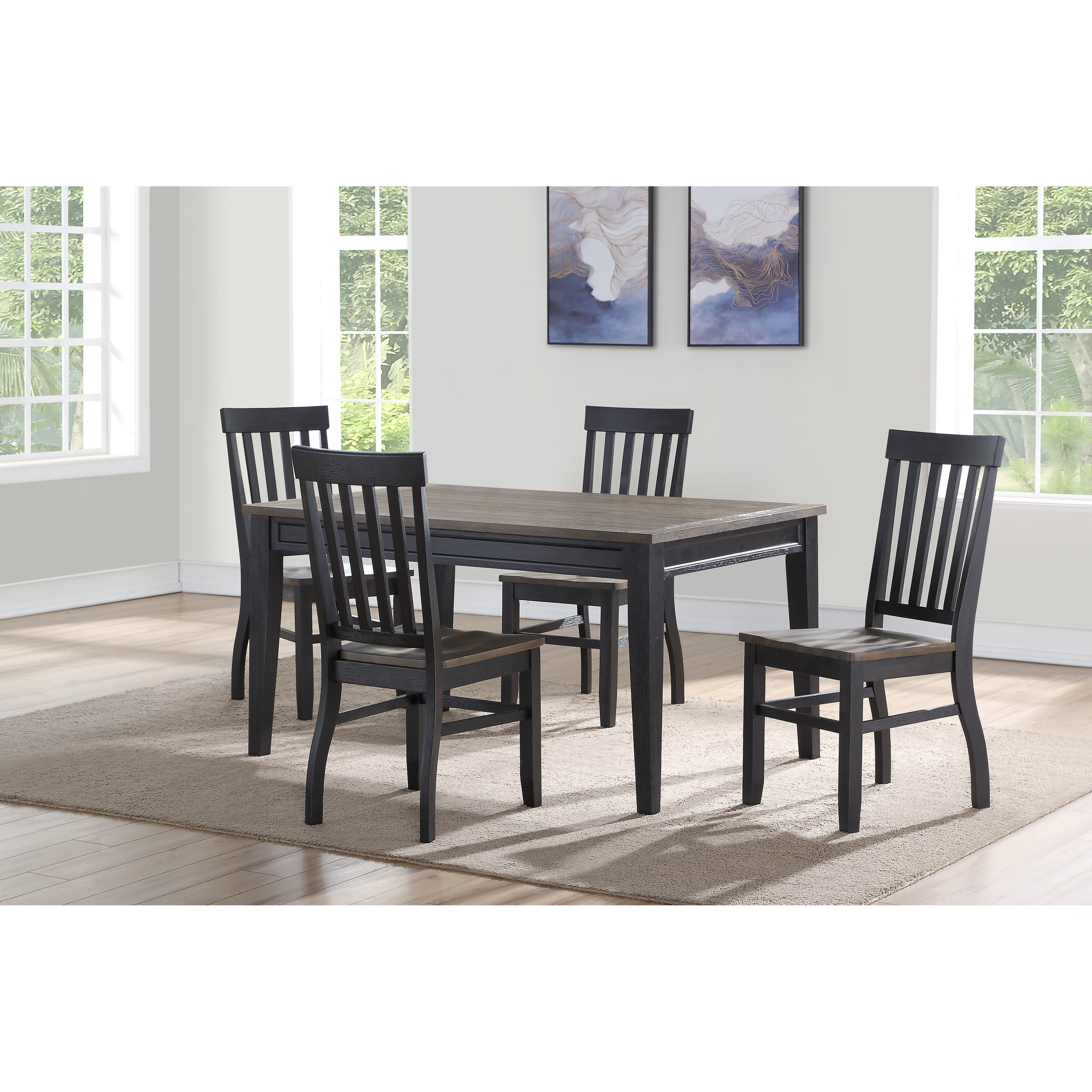 Dining Room Furniture Essentials: Belfort Essentials Raven Casual Five Piece Dining Set