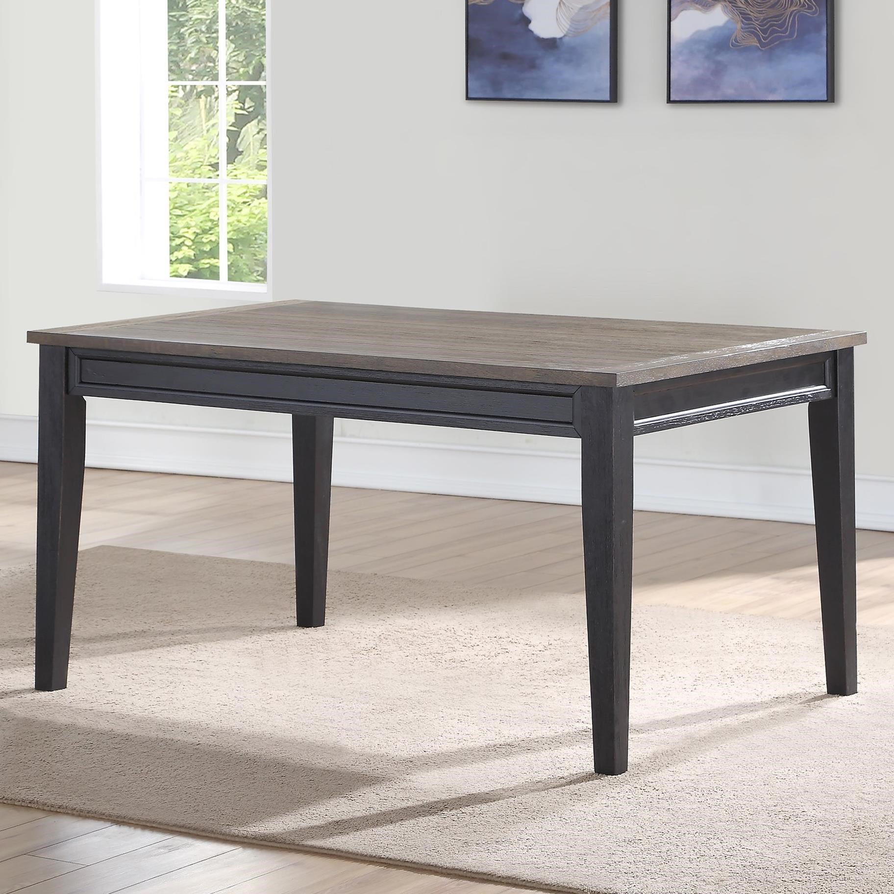 Belfort Essentials Raven Casual Two Tone Dining Table Belfort Furniture Dining Tables