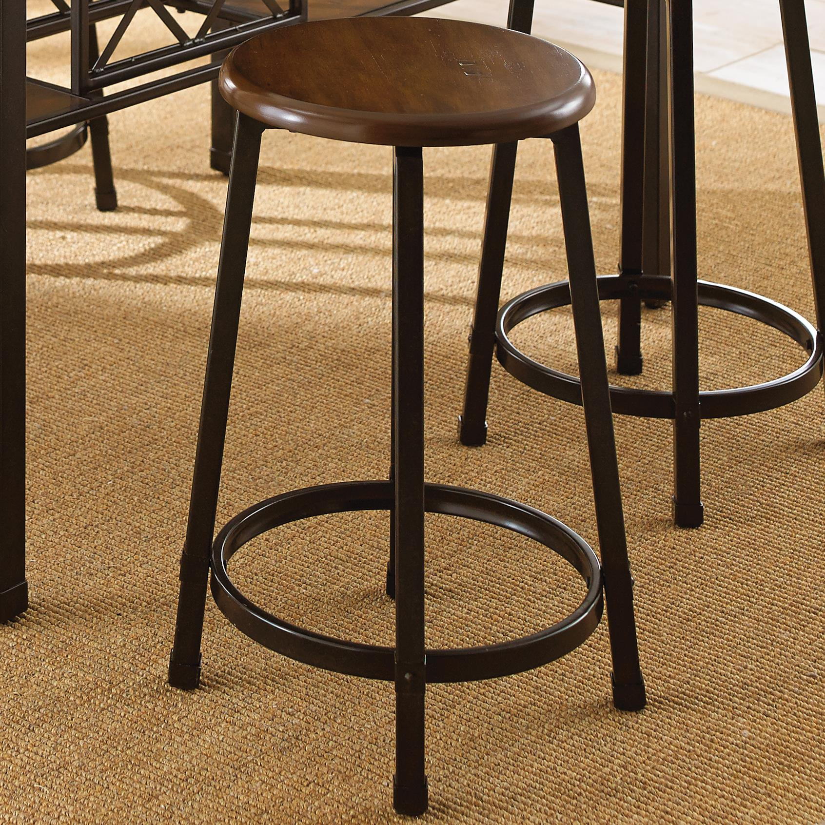 Swell Rebecca Round Counter Stool With Metal Legs By Steve Silver At Wilsons Furniture Gmtry Best Dining Table And Chair Ideas Images Gmtryco