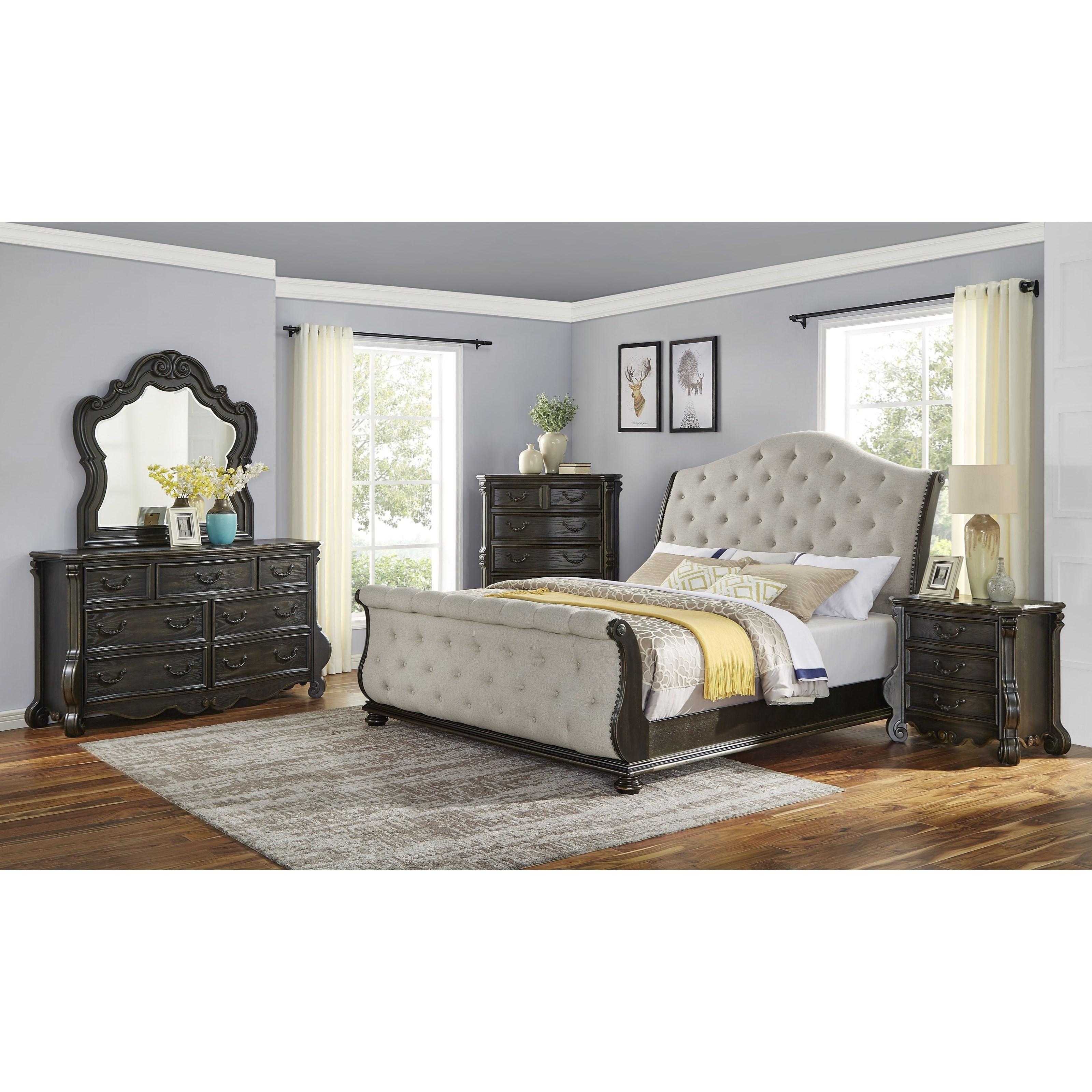 Steve Silver Rhapsody 5 Piece Queen Bedroom Set A1 Furniture Mattress Bedroom Groups
