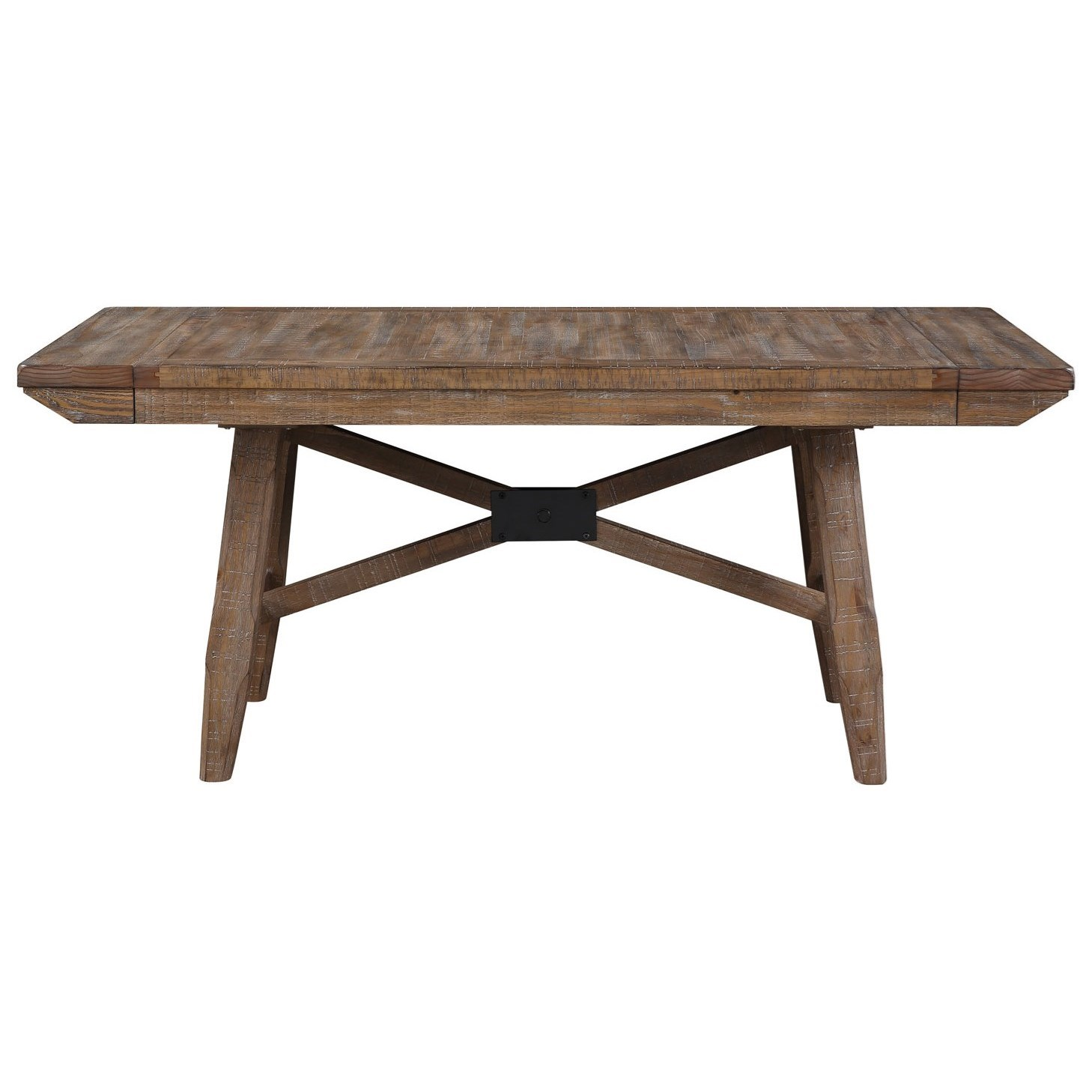 Riverdale Rustic Dining Table With Expandable Leaf Sadler S Home Furnishings Dining Tables