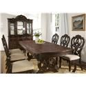 Steve Silver Royale Pedestal Table with 6 Chairs - Item Number: GRP-RY500-TBL6