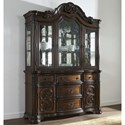 Morris Home Royale China Cabinet - Item Number: RY500B+H
