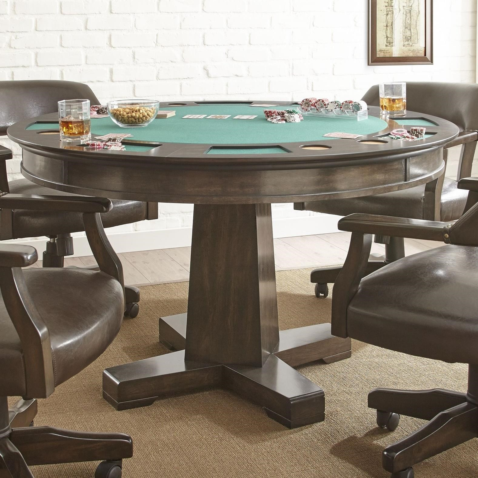 Vendor 3985 Ruby 2-in-1 Round Game Table
