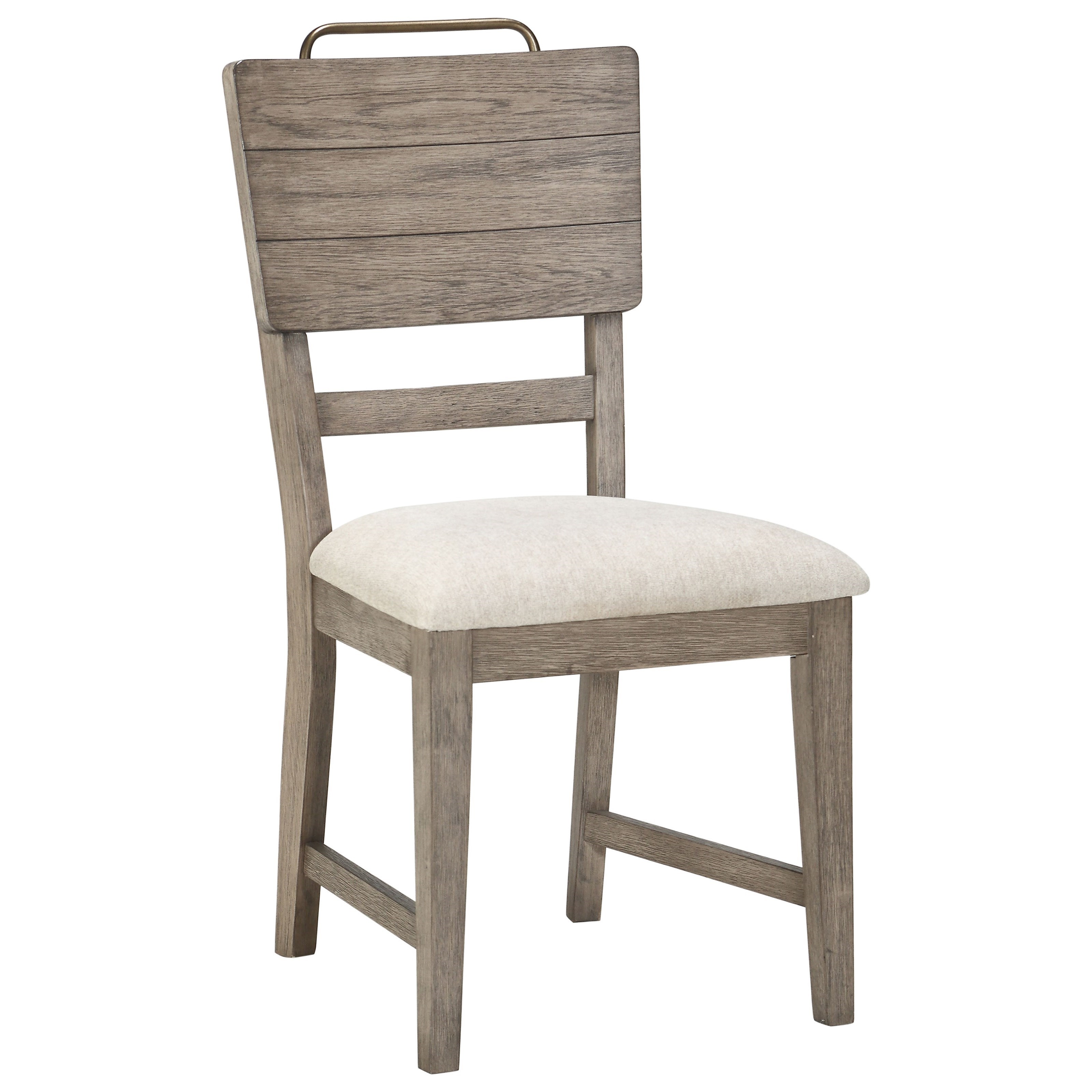 Steve Silver Ryan Rr500s Transitional Side Chair With Upholstered Seat And Metal Accent Handle Northeast Factory Direct Dining Side Chairs