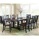Vendor 3985 Samoa 9 Piece Table w/ Double Pedestal Base Set - Item Number: SM500B+T+8xS