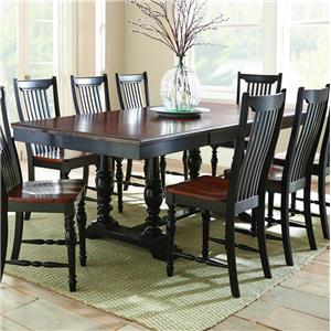 Morris Home Furnishings Samoa Dining Table with Double Pedestal Base