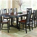 Morris Home Furnishings Samoa Dining Table with Double Pedestal Base - Item Number: SM500B+T