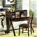 Steve Silver Sao Paulo Dark Brown Office Side Chair - Shown with Desk & Hutch