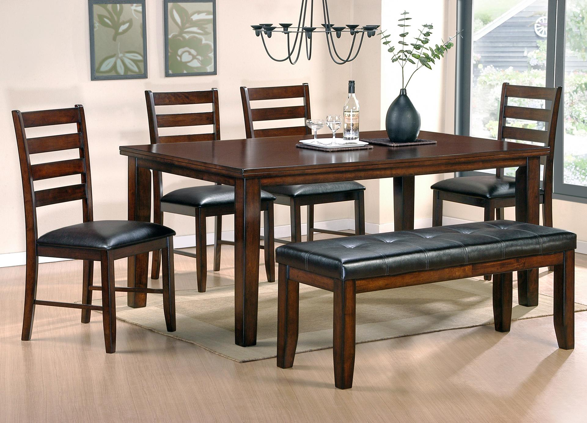 Steve Silver Sao Paulo 6 Piece Casual Dining Table Bench Chair Set