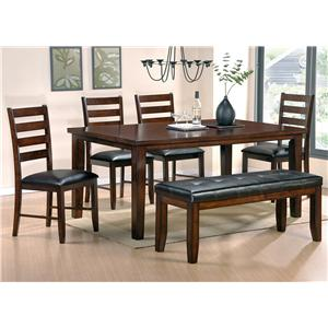 Steve Silver Sao Paulo 6-Piece Dining Table with Bench