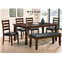 Steve Silver Sao Paulo 6-Piece Dining Table with Bench - Item Number: SP700T+4xS+BN