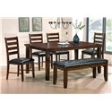 Steve Silver Sao Paulo Casual Rich Brown Rectangular Dining Table