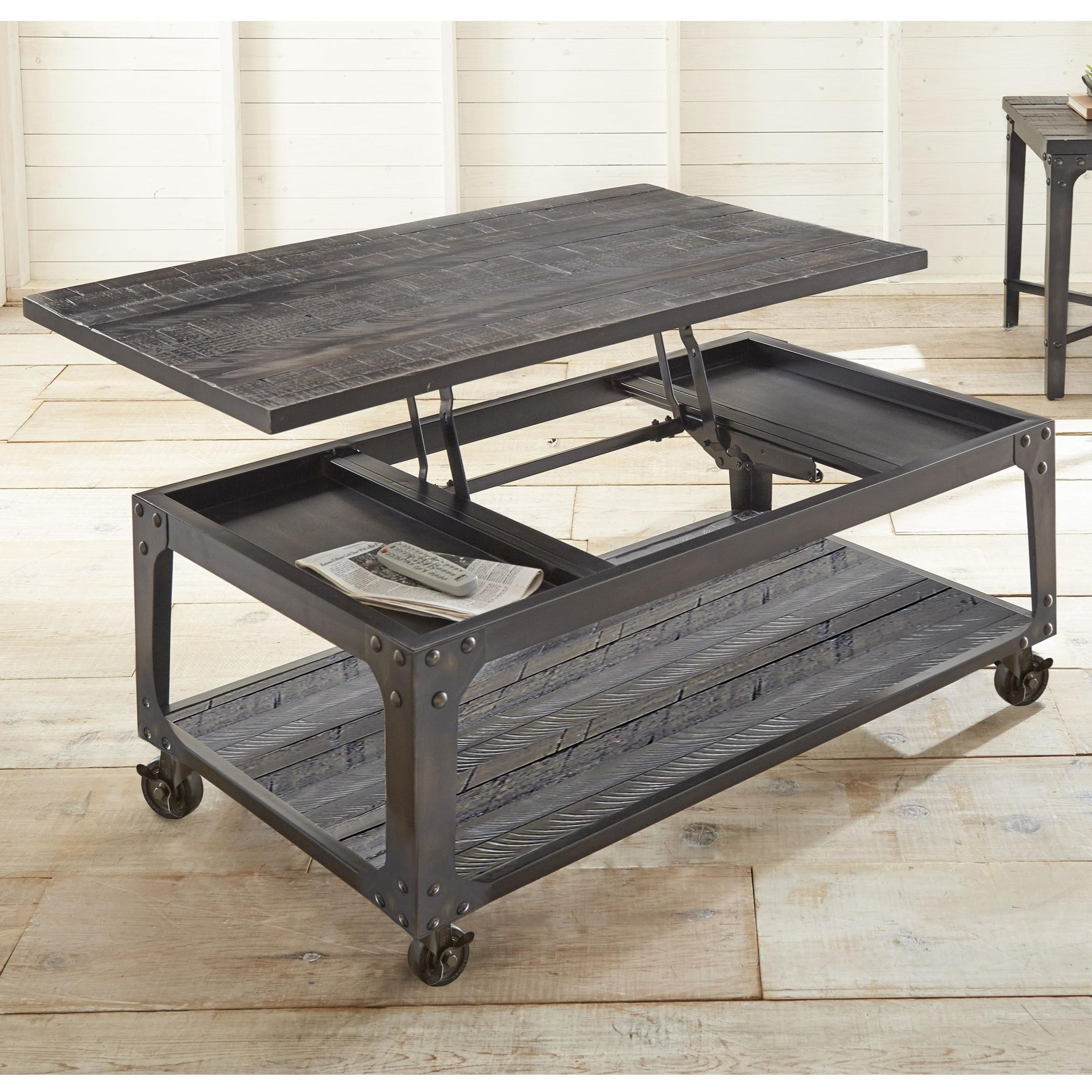 Lift Top Cocktail Table with Casters