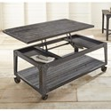 Morris Home Sherlock Lift Top Cocktail Table with Casters  - Item Number: SH200CAS